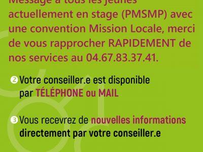 Information PMSMP (stage en entreprise)