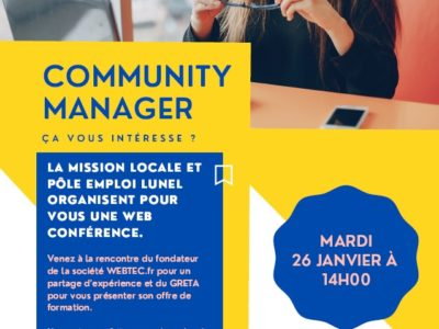 Retour sur la Web Conférence «Community Manager».